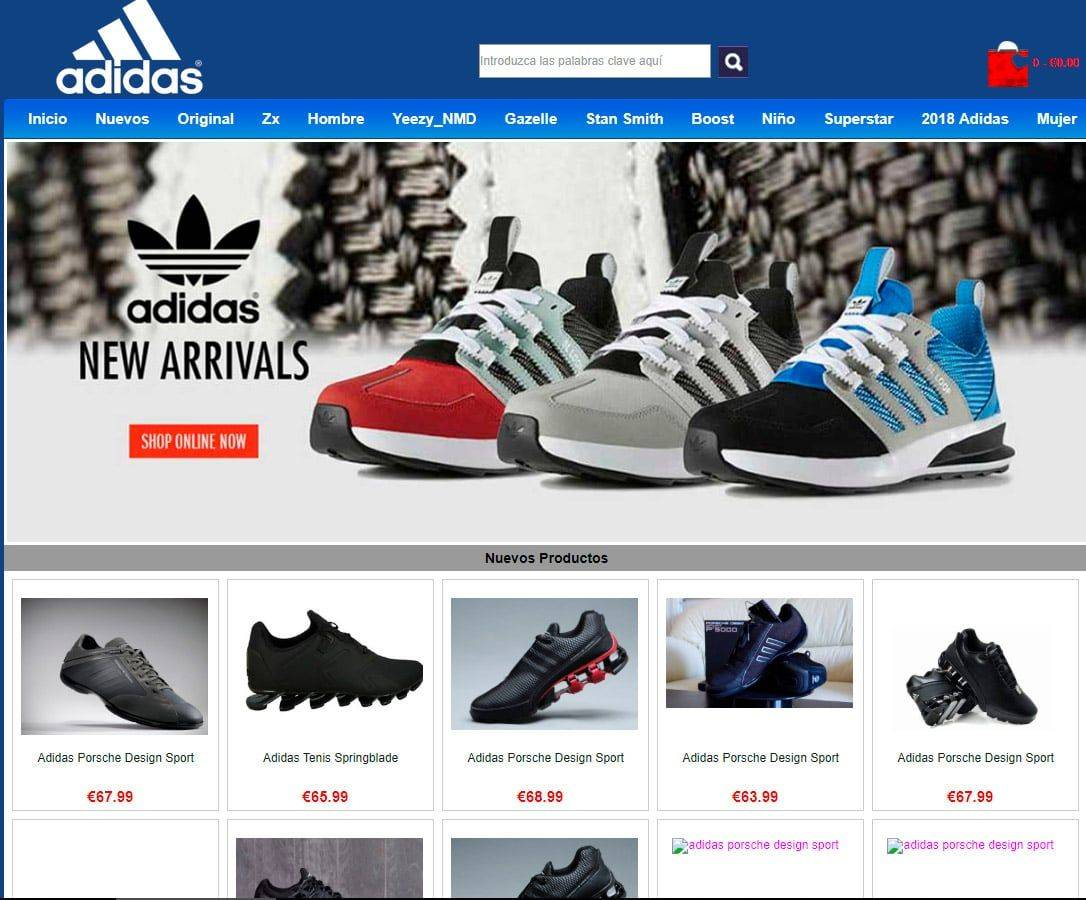arkyn.es fake online shop Adidas - Fakes, Scams and frauds ...