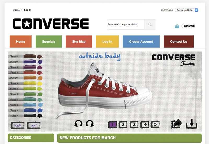 Beonutritiontherapy.ca Fake Online Shop Converse
