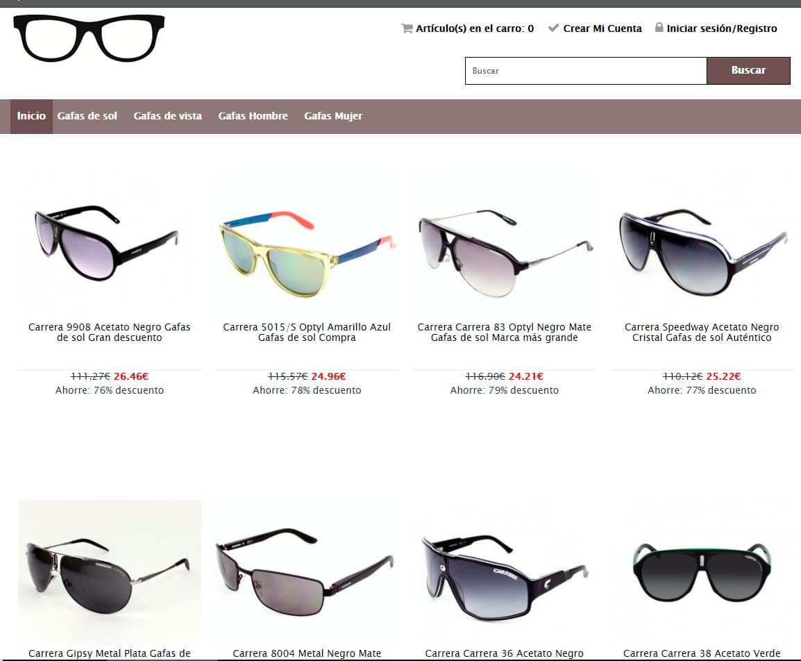 3660f64118 carauto.es fake sunglasses shop Carrera - Fakes, Scams and frauds of ...