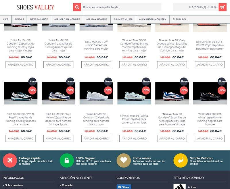 Innecesario Observatorio Celsius  shoesvalley.cn fake Nike shop - Fakes, Scams and frauds of Internet